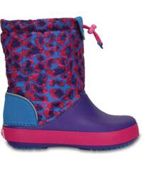 Dětské sněhule Crocs Crocband LodgePoint Graphic K - Leopard C8 fialová 6d8b8336cc