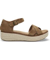 915ae0ca86c1 Dámske hnedé sandálky na platforme TOMS Suede Harper