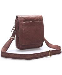 f4dbf9618f Kvalitná hnedá pánska kožená taška - SendiDesign Appart hnedá