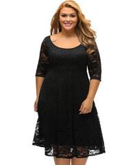 360e0b896d66 NoName 02 Dámské šaty pro plnoštíhlé krajkové černé XL