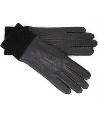 4e0385cc66e VEROSTILO Čierne kožené rukavice Breslau (r13aXL)