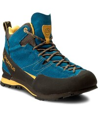Trekingová obuv LA SPORTIVA - Boulder X Mid Gtx GORE-TEX 17EBY Blue Yellow 810ddc8108