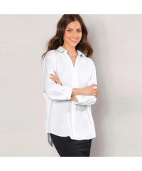 Venca Košile se 3 4 rukávy a zakulaceným spodním lemem bílá fadde533a5