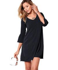 ac595db89b40 VENCA Jednofarebné šaty s 3 4 rukávmi čierna S