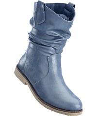 f62e550ead2 Modré dámské kozačky a kotníkové boty bez podpatku - Glami.cz