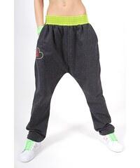 4f8184cb70df 2skin Dievčenské tanečné nohavice Cooper Kids Jeans - šedá-citrónová