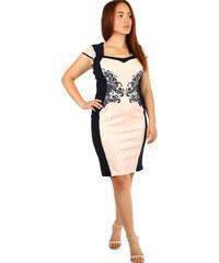 017747b8cb57 Glara Spoločenské šaty s krátkym rukávom nadmerné veľkosti