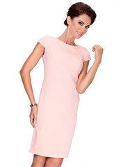 Strikingstyle Elegantné šaty s krátkym rukávom   broskyňová 37-1 4a55ec020eb