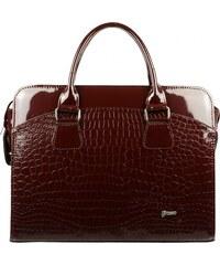 Dámská luxusní taška na notebook bordó lak kroko ST01 15.6