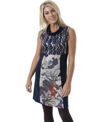 Smash JOHANNA krátké šaty bez rukávu tmavě modré se vzorem 9aa2de72f0