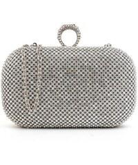 82436add6460 Lifestyle Diamond Společenská kabelka s kamínky stříbrná