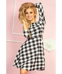 891d3a12a6b2 Numoco Čierno ružové kárované dámske šaty 165-1 - Glami.sk