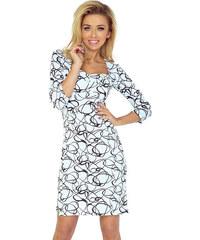 Numoco Šaty s luxusním výstřihem a vzorem 4feef1dd48