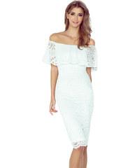 MORIMIA Dámské krémové krajkové šaty MM 013-1 379ee630ce