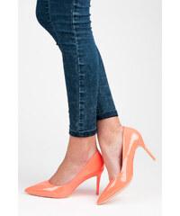 Oranžové dámské boty na podpatku - Glami.cz fa7fdb6fe3