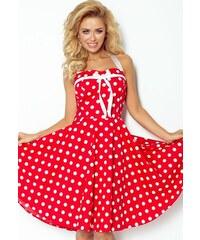 1b4e0962bd26 NUMOCO Červené retro šaty s bodkami 30-14