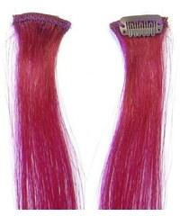 SIMPLY PERFECT Trendy 4ks - Prameny vlasů Human Hair 30cm na sponě - Burg