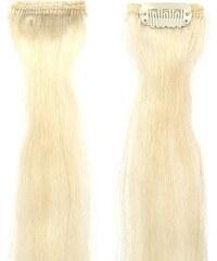SIMPLY PERFECT Trendy 4ks - Vlasy k prodloužení Human Hair 47cm na sponě - 613 blond