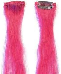 SIMPLY PERFECT Trendy 4ks - Prameny vlasů Human Hair 47cm na sponě - Pink