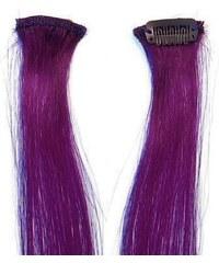 SIMPLY PERFECT Trendy - vlasy k prodloužení Human Hair 47cm na sponě - Purple