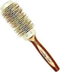 OLIVIA GARDEN Pro Cer Ionic HH-43 Keramický kulatý kartáč na vlasy s bambusovou rukojetí