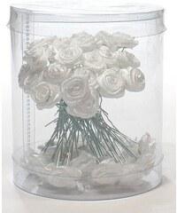 DUKO Ozdoby do vlasů Vlásenky s růžičkou 50ks - bílé