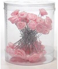 DUKO Vlasové ozdoby Vlásenky s růžičkou 50ks - růžové