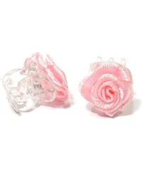 DUKO Ozdoby do vlasů Skřipeček s růžičkou 1ks - růžový