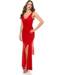 2359b565f787 Strikingstyle Spoločenské šaty s čipkou a mašľou   červené