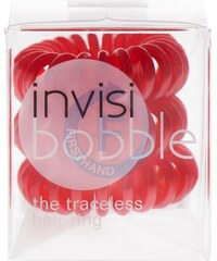 INVISIBOBBLE Traceless Hair Ring Red 3ks - Spirálová gumička do vlasů - červená