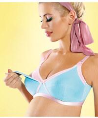 Kojící podprsenka Mitex Blue Jelly Bra - výprodej, tyrkysová