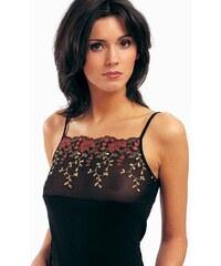 Spodní košilka Violana Stella black - ramínka, černá