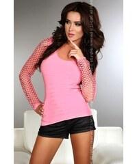 Dámské tričko LivCo Corsetti Hortense, růžová, růžová