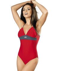 Plavky sportovní gWINNER Rosanna I, červená - šedá