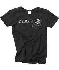 BLACK Pomůcky Černé tričko s potiskem Black Parisienne - velikost XL