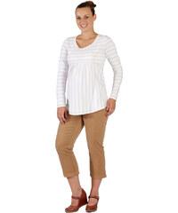2c2fc4147ed Těhotenské tričko Rialto BORVEMORE bílé + zlatý pruh 0053