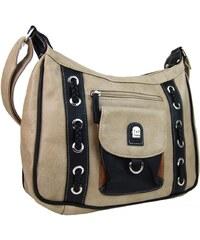 Tapple Crossbody kabelka se dvěmi sekcemi H1790 šedo-béžová 40f91f179a0