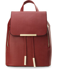 7f6e838ef6 World-Style.cz Stylový dámský batoh s klopou zpevněné dno eko kůže červená
