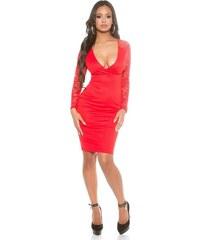 9106c3987203 Strikingstyle Elegantné krajkové šaty   červené
