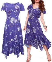 8765ae0b3f2 Bonprix Dámské dlouhé cípaté fialové šaty velikost 52