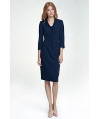 fdbcb48f5fd NIFE Dámské šaty Vázanka tmavě modré