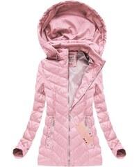 MHM Dámská jarní bunda růžová (W619) - S (36) f12db89978e