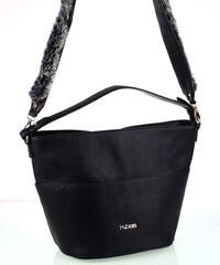 f58306f2e6 Dámska kabelka z eko kože Kbas s rúčkami a popruhom čierna