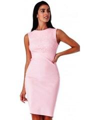Dámské šaty bez rukávu Olivia růžové CityGoddess DR1245 29fdcdbae5