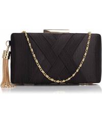 b8d0a44c71 Anna Grace London Anna Grace Společenská kabelka psaníčko s ozdobným  střapcem AGC00313 černé