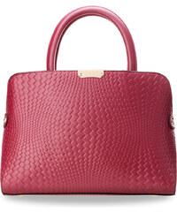 World-Style.cz Posh dámská kabelka kufřík s ražením ve stylu hadí kůže  růžová 3be28d5705c
