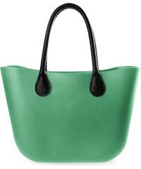 3f7aeb11e7 World-Style.cz Silikonová dámská kabelka gumová taška stylový shopper bag  jelly bag zelená