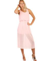 0889938dc858 Glara Dámské společenské šifonové šaty v 7 8 délce na ples