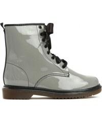 Dámské šedé lakované kotníkové boty Glance 6149 40061853f0