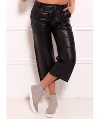 a8abb5c1291 Glamorous by Glam Dámské culottes kalhoty 3 4 délky - koženkový vzhled